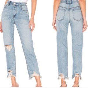 NWT Free People Chewed Up Straight Jean